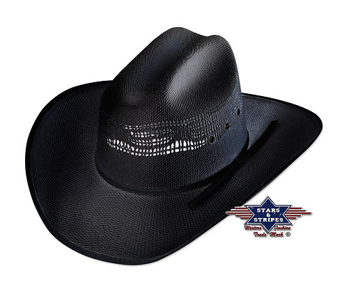 Ashton Black Cowboy Hat by Stars & Stripes