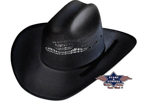 Ashton Black Cowboy Hat by Stars & Stripes