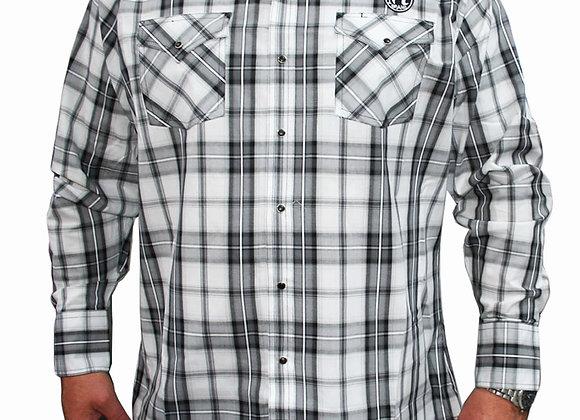 Jack Daniels Long Sleeve Plaid Shirt JDLS8