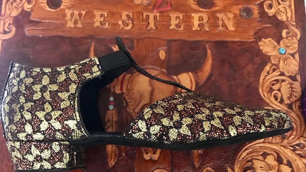 Flower Greek Dance Shoes