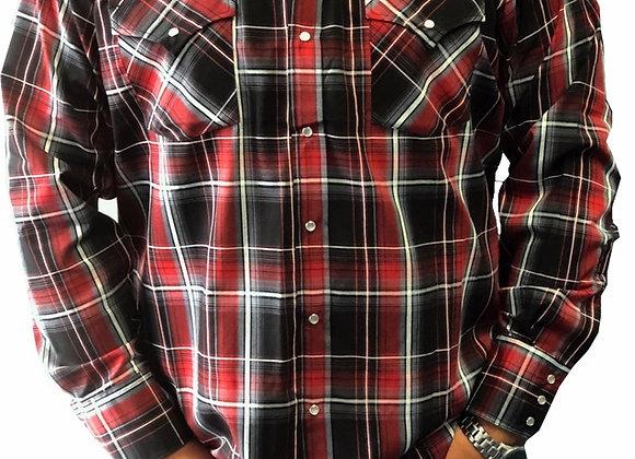 Ely Plaid Red Cowboy Shirt    E08