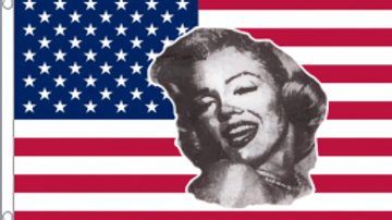 Marilyn Monroe USA Flag