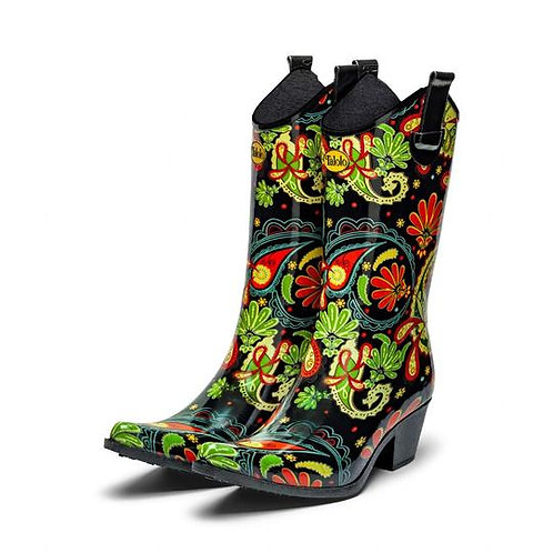 Paisley Vibe Cowboy Boot Wellies