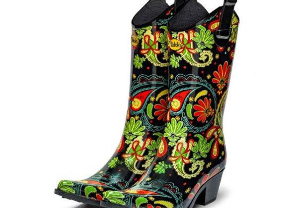 Paisley Vibe Cowboy Boot Wellies