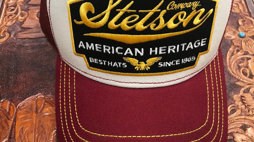 Stetson American Heritage Trucker Cap Burgundy