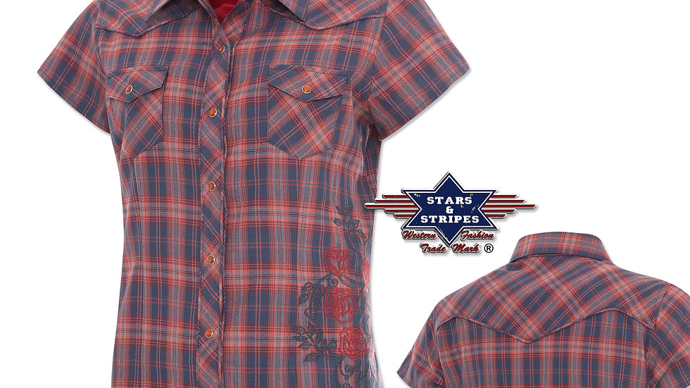 Ladies Western Short Sleeve Shirt by Stars & Stripes    Sedona