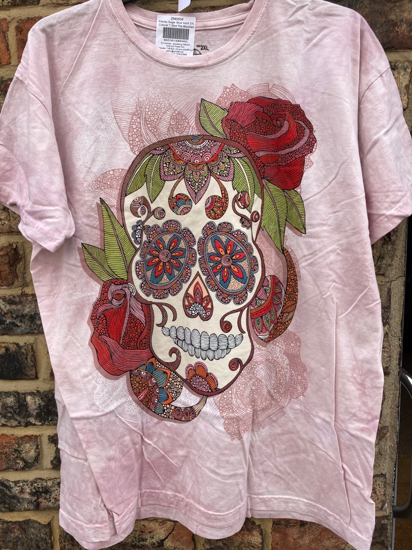 The Mountain Ladies Adult Paisley Sugar Skull T Shirt