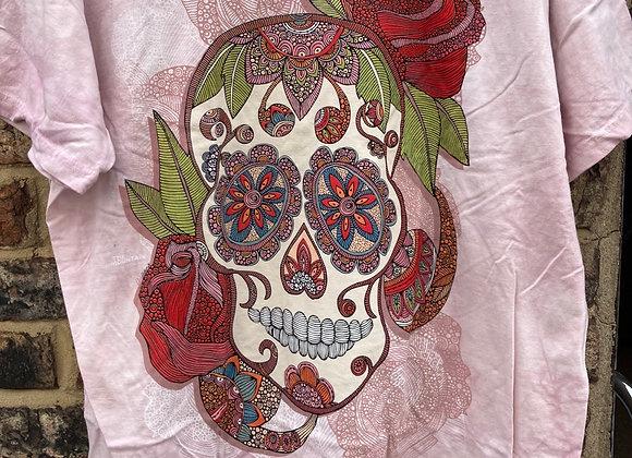 Paisley Sugar Skull (Mountain T-shirt)