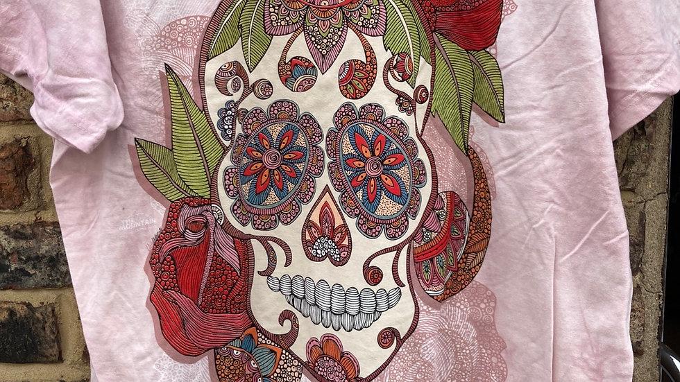 Sugar Skull Fantasy T-Shirt  by The Mountain
