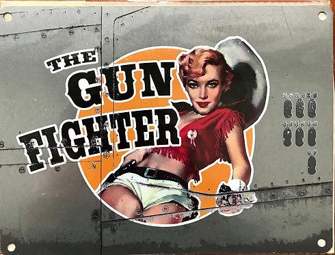 Gunfighter - Metal Sign