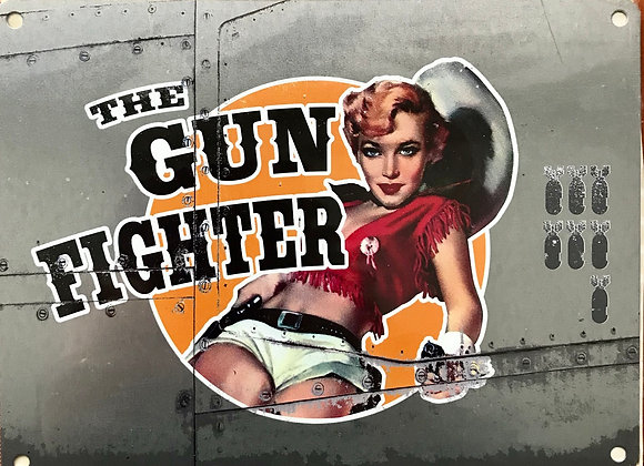 Gunfighter - Metal Sign