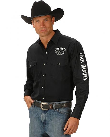 Jack Daniels Ely Black Long sleeved Shirt JDE007