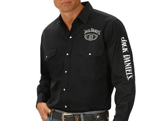 Jack Daniels Ely Black Long sleeved Shirt JDE007