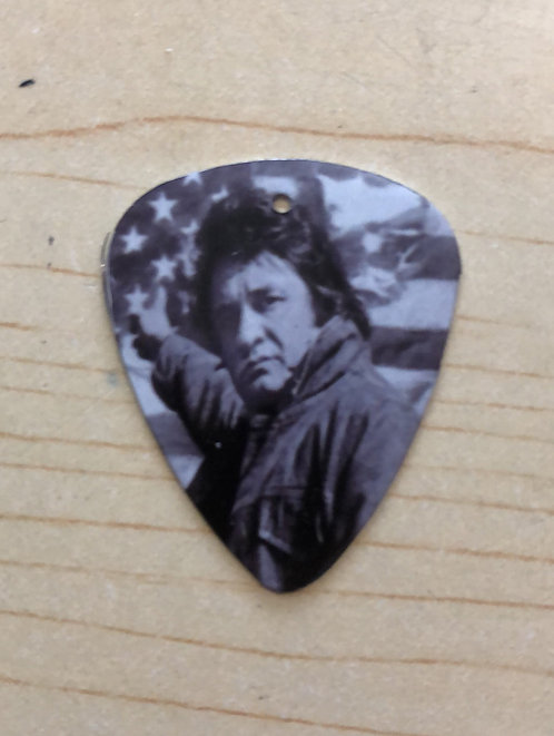 Johnny Cash Metal guitar pick