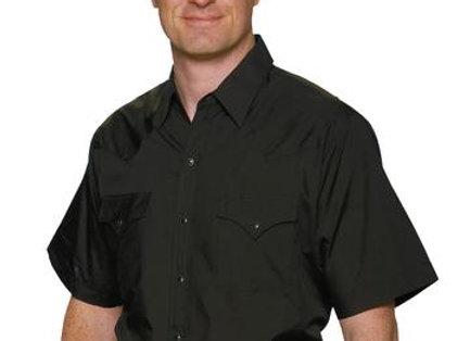 Ely short sleeved Western shirt     E20