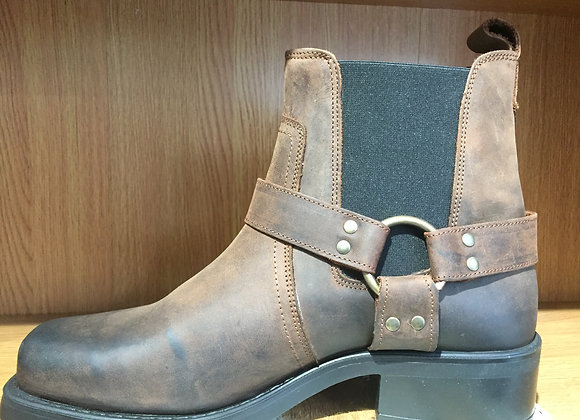 Low Harley Leather Ankle Boot