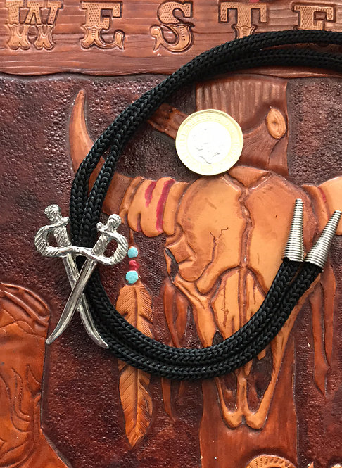 Bolo Tie  crossed swords