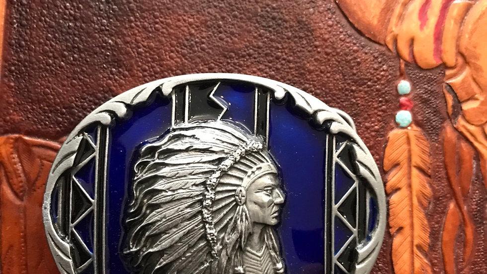 Siskiyou Indian Chief Belt Buckle (BU22)