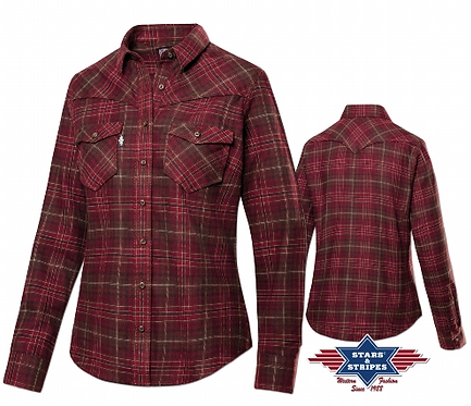 Ladies checked Russet by Stars & Stripes