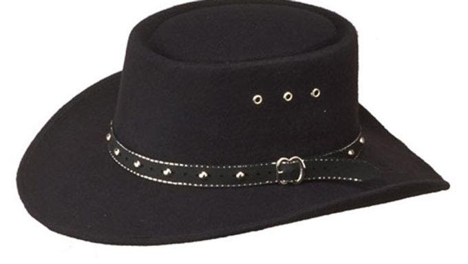 Gambler Faux Felt Cowboy Hat (HS12)