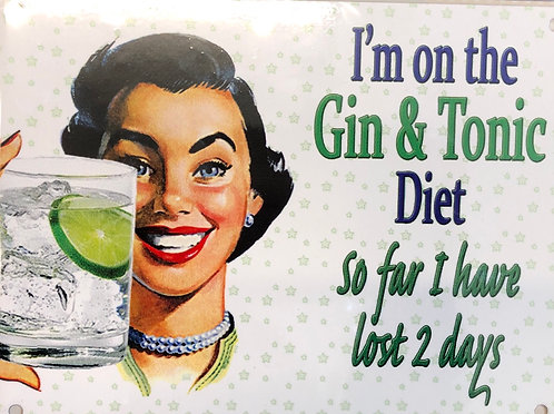 I'm on the Gin & Tonic Diet
