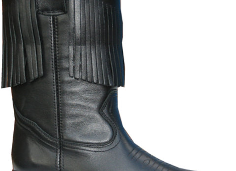 Leather Cowgirl Boots with fringing  L7500