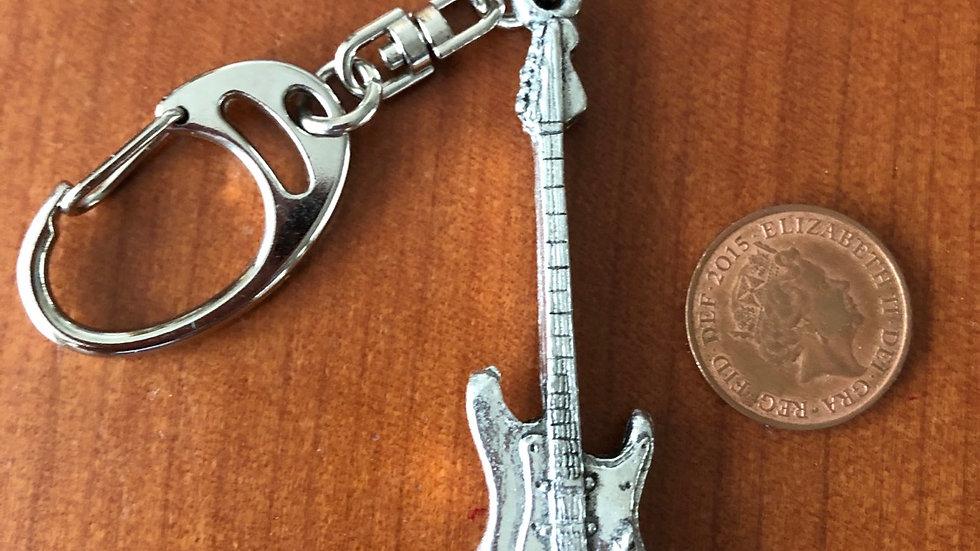 Pewter guitar keyring