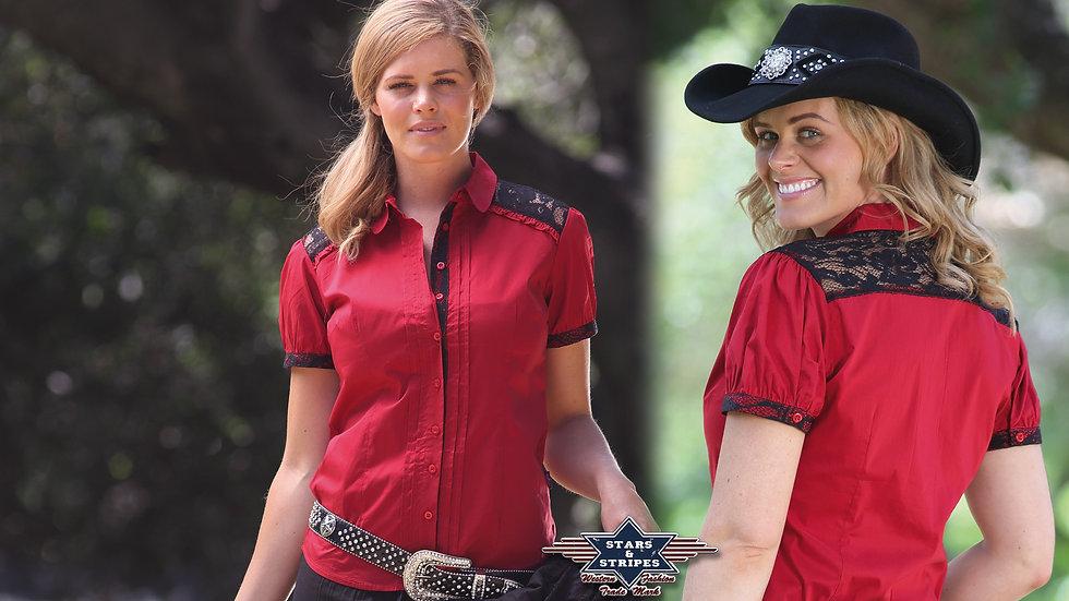 Short Sleeve Western Shirt by Stars & Stripes   Fabia