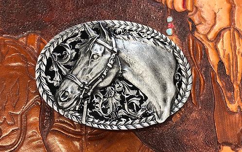 Horse head belt buckle made in U.S.A