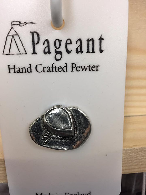 Pewter pin, Cowboy hat