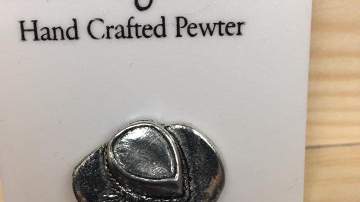 Pewter pin, Cowboy hat