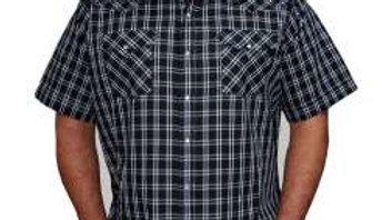 Mens Ely short sleeved Plaid Shirt    E09