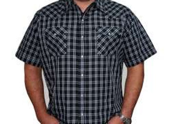 Mens Ely short sleeved Plaid Shirt    E09
