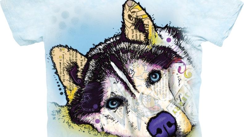 Siberian Husky Dog T Shirt by The Mountain