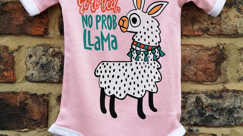 No Prob Llama baby grow by Lazy One