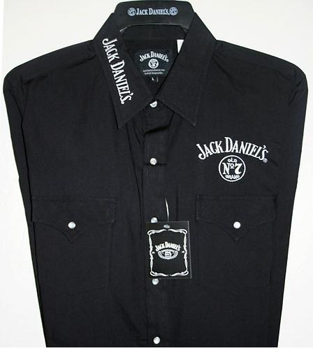 Jack Daniels Ely Black Long sleeved Shirt JDE002