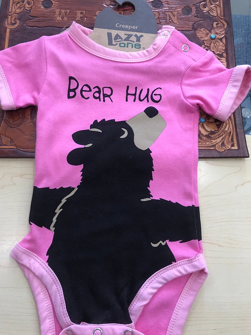Lazy One Bear Hug Pink  -  6 months