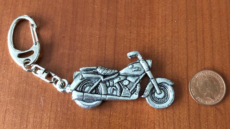 Classic Pewter Bike Keyring