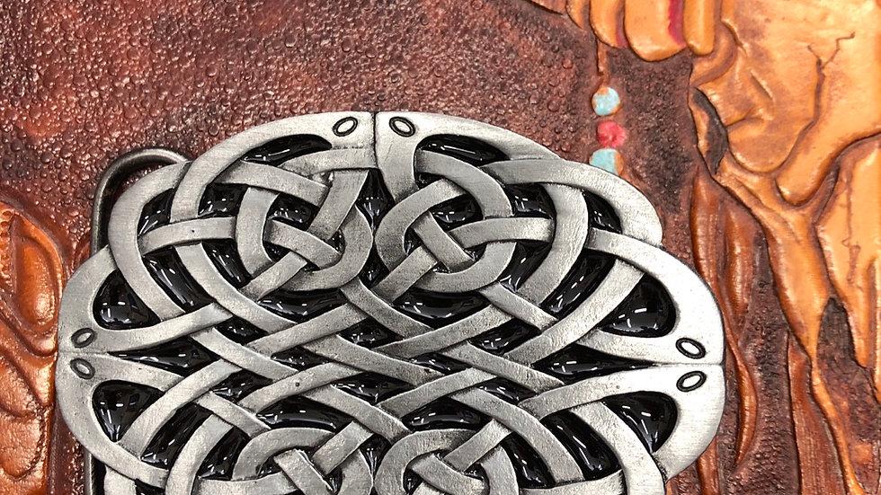 Oval Celtic Knot Belt Buckle