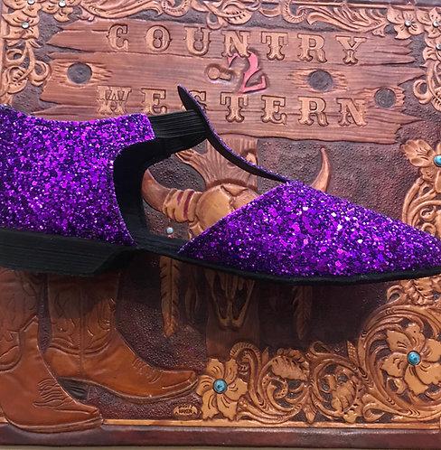 Purple greek dance shoe