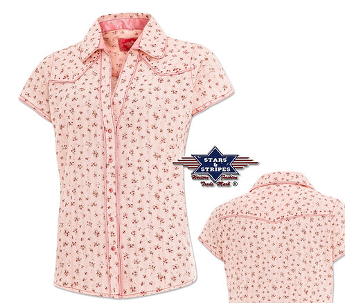 Ladies Short Sleeve Western Shirt by Stars &  Stripes ~ Lola