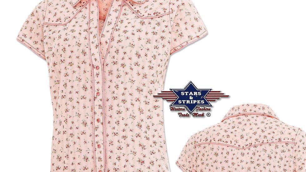 Ladies Short Sleeve Western Shirt by Stars &  Stripes ~ Lola