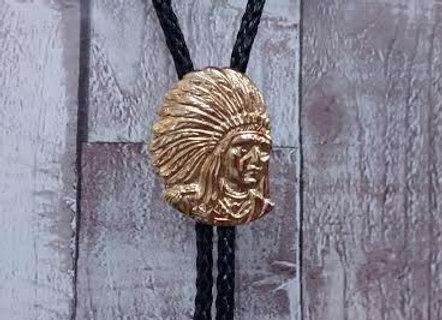 Indian Chief Bolo Tie     icO13