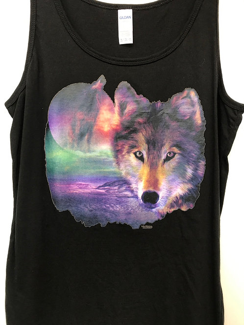 I am Wolf   US Art Brand design vest top   USA04