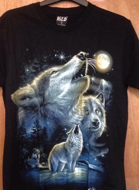 'Wild' howling wolf TShirt      WF3