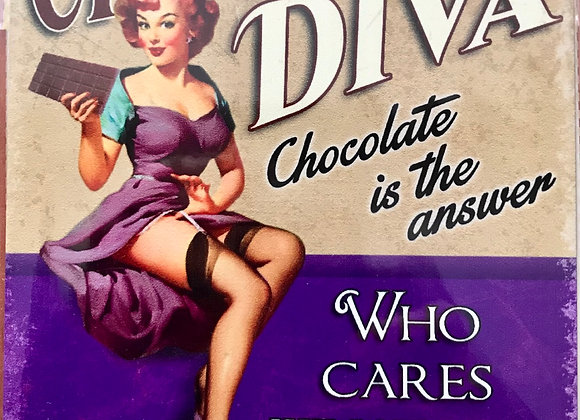 Metal Sign - Chocolate Diva