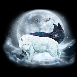Yin Yang Wolves Ladies vest (USA17)