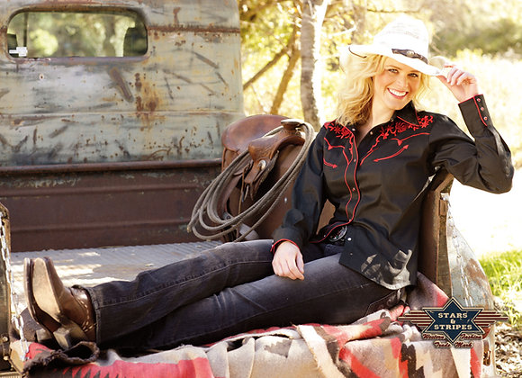 Ladies Western Shirt  by Stars & Stripes  ~ Katy