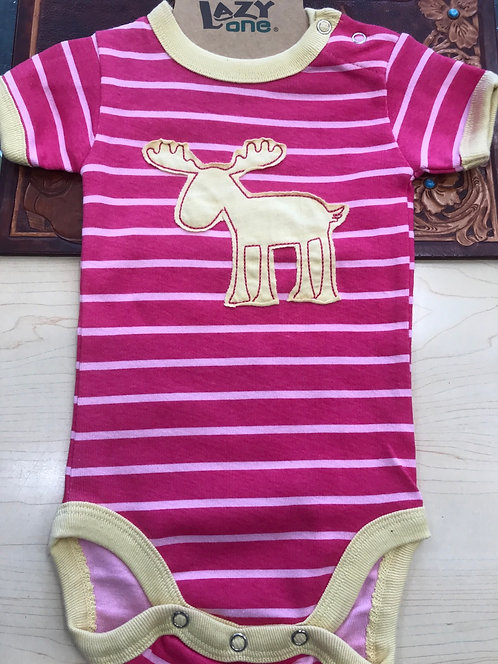 Lazy one - stripe Moose Pink -