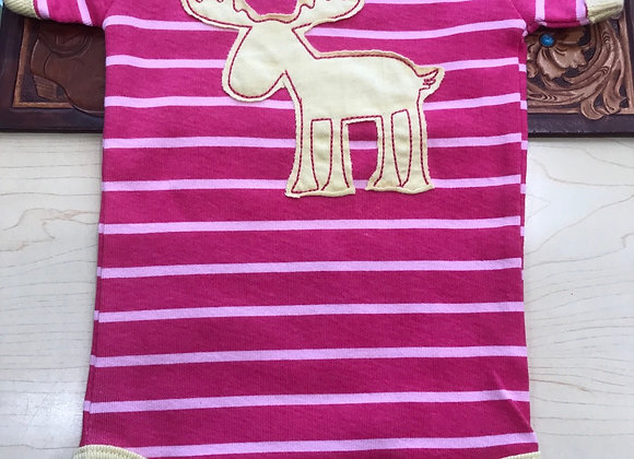 Lazy one - stripe Moose Pink -
